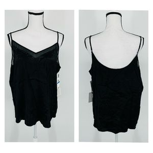 1.state Floral-Jacquard Contrast Camisole - C65